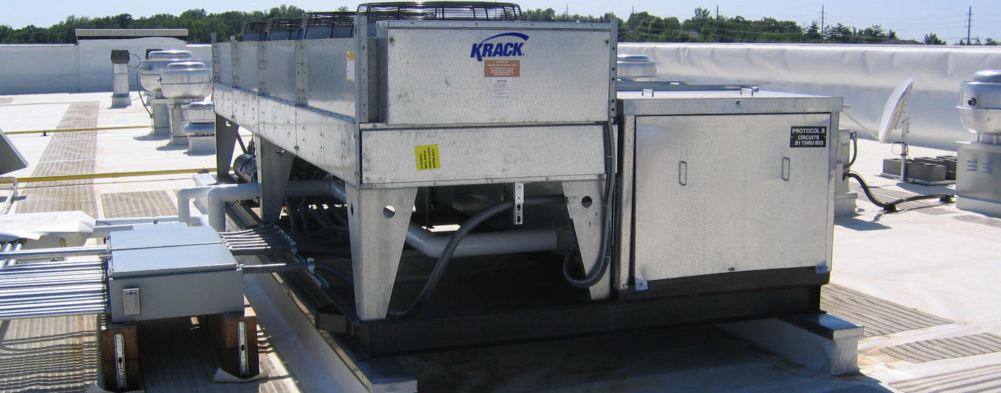 Inline Levitor II condenser applied to Hussmann outdoor system